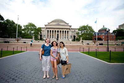 Walking around Columbia where Iza is doind her Masters.
