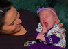 Izabella controlling her excitement after the Ravens game.
