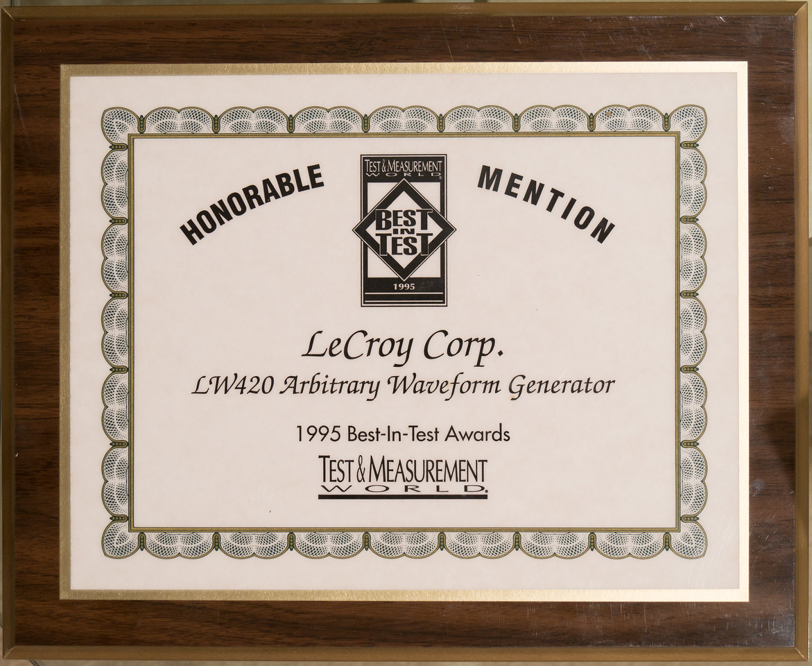 Saving a picture so we can discard the plaque.  As LeCroy did, when I took it home. I worked on that project, did the processing software.