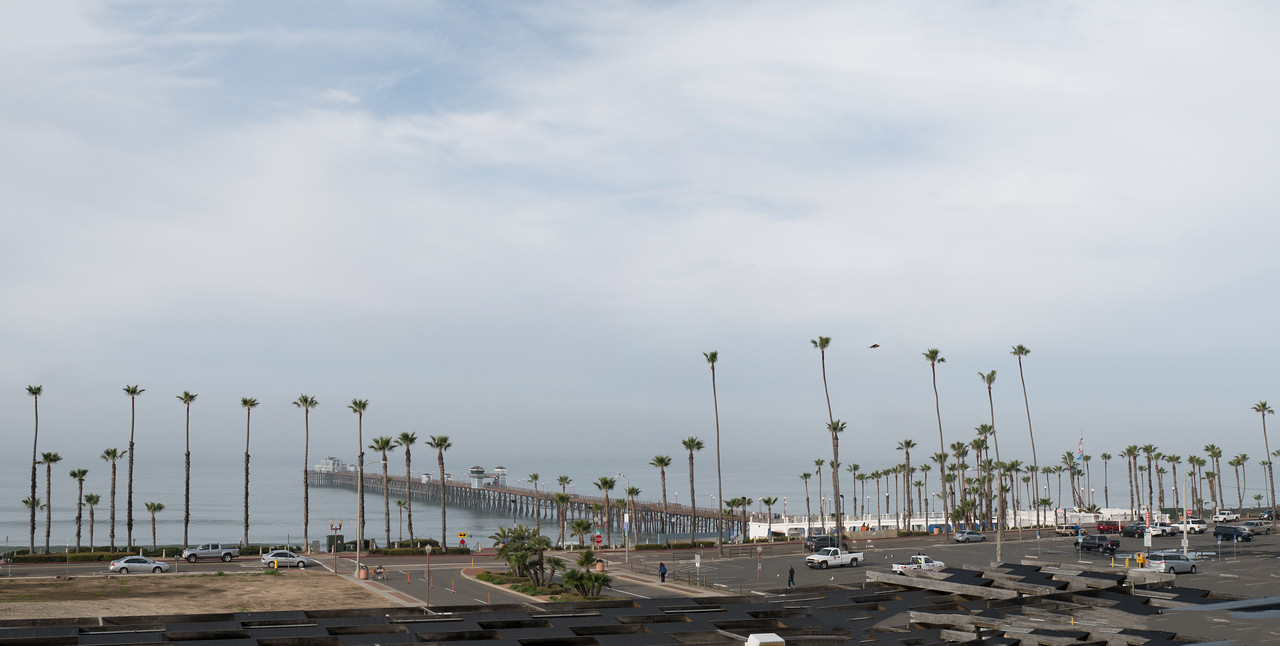The Oceanside Pier - 2 shot panorama