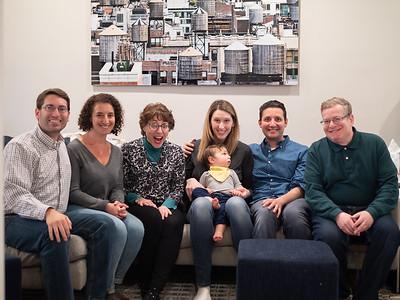 Shai, Carolyn, Pearl, Rachel holding Leo, Bert, me (Joseph)