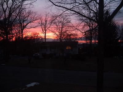 Sunset across the street, 5:21PM