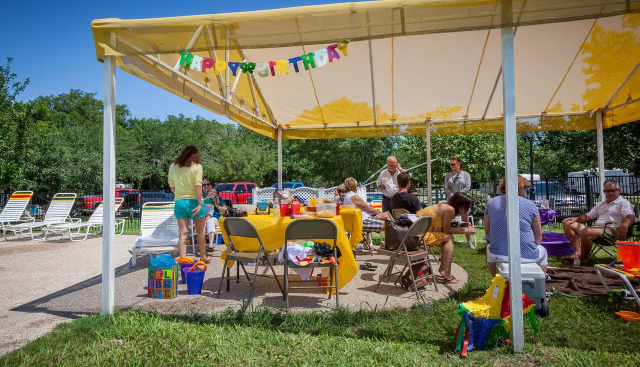 PARTY WAS LOCATED AT THE ARLINGTON, TX. KOA