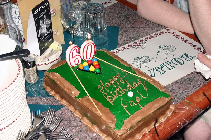 A Pool Table.... for a birthday cake...?  Why not ! Papi Jean Roger loves pool a great deal.... That was an excellent choice