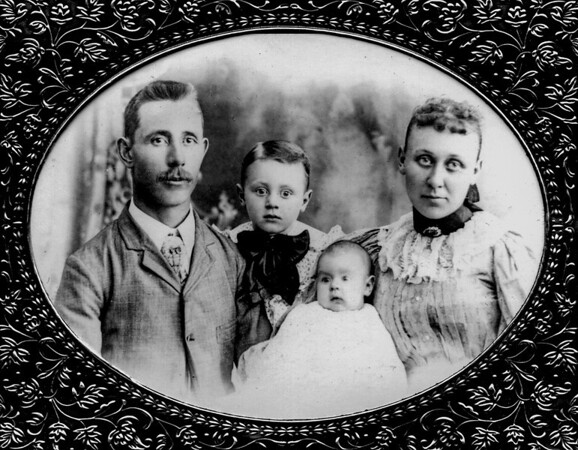 John Jr. and Opal Bensheimer; their children Phillip Amos and Edith.