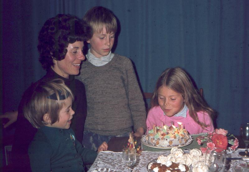 Mary's 8th  birthday 1976
