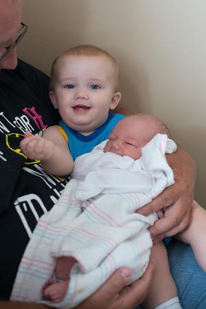 Breyden holding Lucas.