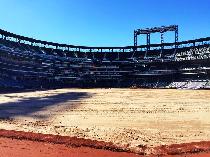 Putting down a new field @ Citi Field.