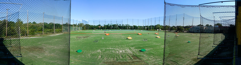 "6 Photo Stitched Panoramic - ""Upper Level Of Driving Range"""