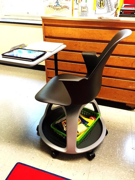 Jack gets the new style desks!