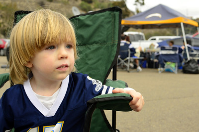 Jack Tailgating at Chargers Game