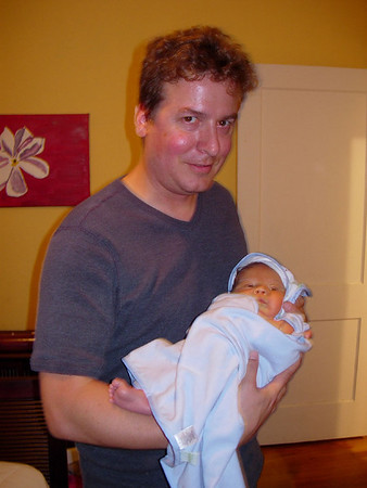 Jack at home after birth