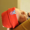 Jack ready to leave the hospital, all decked out in his Jayhawk gear, March 9, 2012.