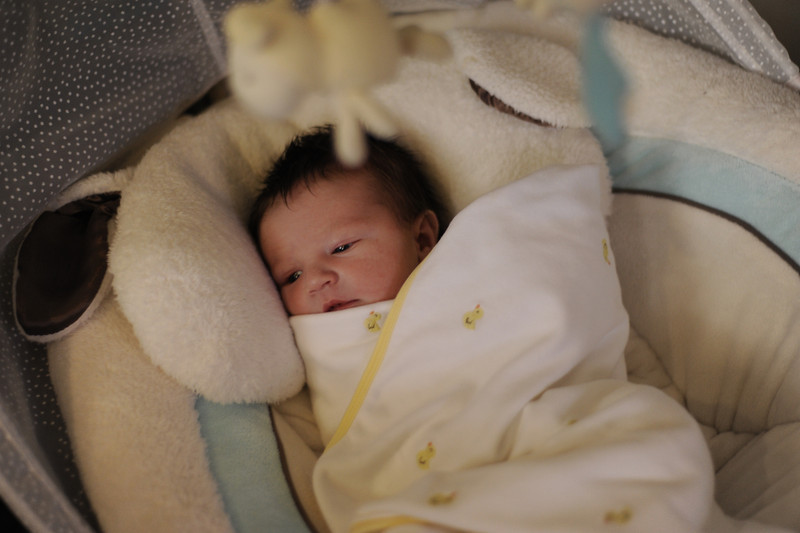 Jack in his swing on his first full day home, March 10, 2012.