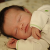 Jack, asleep on his one-week birthday, March 14, 2012.