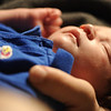 Jack resting during the University of Kansas win over Ohio State University, March 31, 2012.