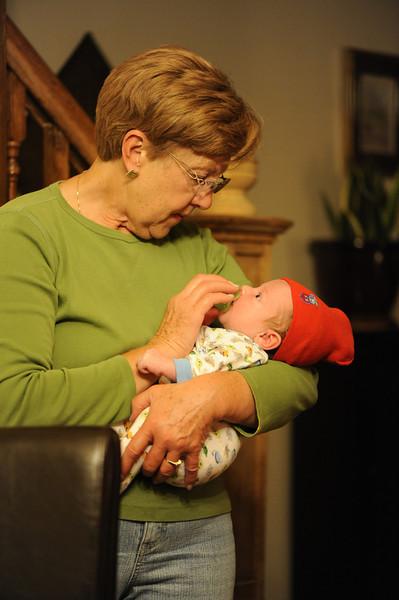 Jack and Grandma Spiegelhalter, April 3, 2012.