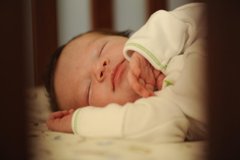 Jack, asleep on his one-week birthday, March 14, 2012.