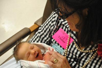 Smiling at Mimi, In NICU