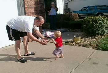 """<br><br><font size=""""3"""">Walking on the driveway.</font>"""