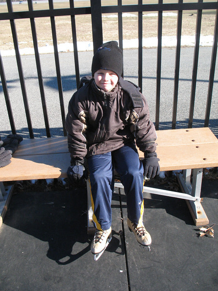Jacob ready to skate at Bear Mountain rink