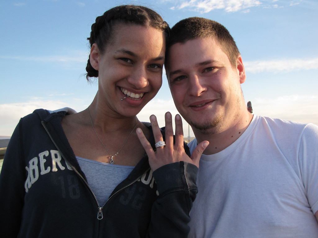 Rachel shows off her beautiful engagement ring