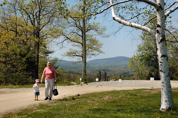 Jake and Gramama Walking on the Grounds