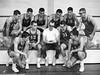 Coach Jim and his Washington, KS High School basketball team 1964.