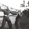 James Thaxton and Friend<br /> Boot Camp<br /> San Diego, CA<br /> 1950