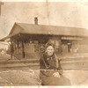 Lulu Dent Lockridge Corley, Railroad Depot<br /> Gallman, Mississippi<br /> around 1915