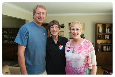 Chris (youngest cousin), Nancy (oldest cousin), Karen (sister)