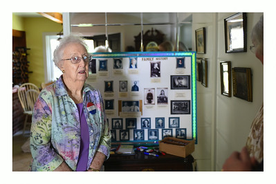 Elda in front of the Family Tree
