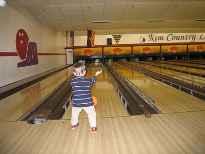 Ethan, future professional bowler.