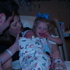 Clay, Melissa, Piper Jane, and Rachel Grace Cook<br /> Piper's birth day<br /> 9-20-11