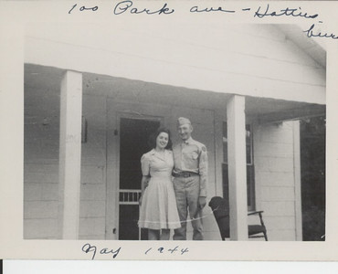 Jane A. Wait and her Master Sergeant, Newman E. Wait May 1944, Hattiesburg, Miss.