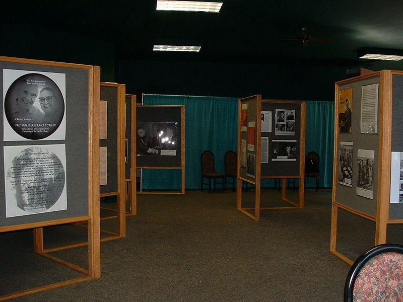 Brubeck exhibit by Don Walker and Janene Ford installed for Monterey Jazz Festival 2004