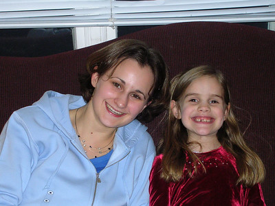Me and god-daughter Debbie, taking it easy Christmas Eve '04