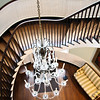 Cantilevered staircase at the Joseph Manigault House