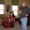 Levi and Papa competing while playing bowling.