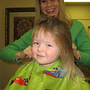 Claire's turn...FIRST HAIRCUT and NO TEARS!!  Yeah Claire!