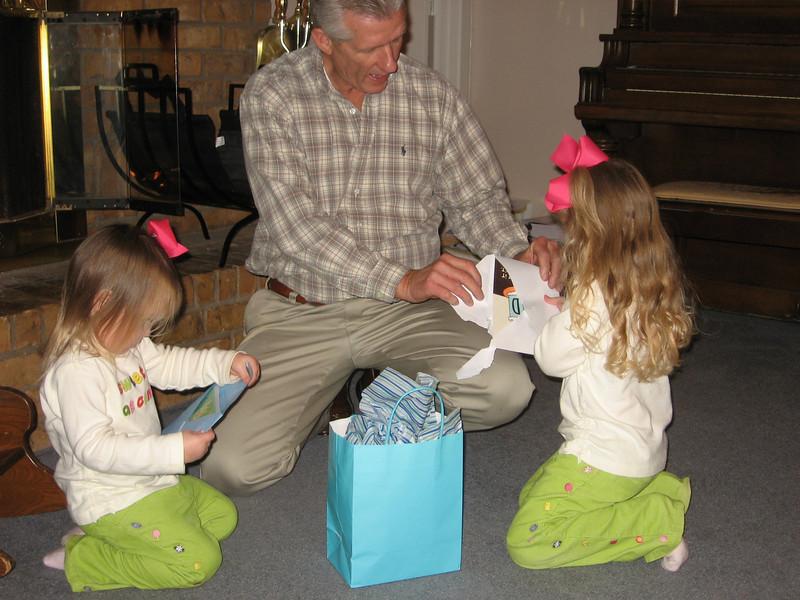 We went over to Nana and Papa's to help celebrate Papa's birthday.