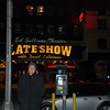 Adam in front of The Late Show