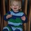 "Brady is some how 9 months old today!  Stats - 19 lbs. 7 oz. and 28 1/2"" tall"