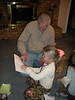 Camden helping Papa read his birthday card.