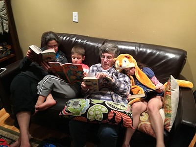 the family that reads together...