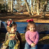 Nellie Grace and Carlyle hanging out at the park.