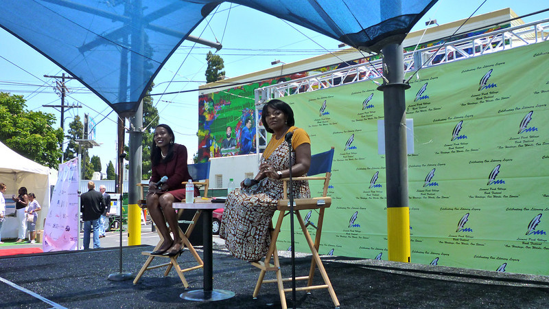 """Beverly White, KNBC-TV, with author Isabella Wilkerson, author of Warmth of Other Suns.  <a href=""""http://isabelwilkerson.com/"""">http://isabelwilkerson.com/</a>"""