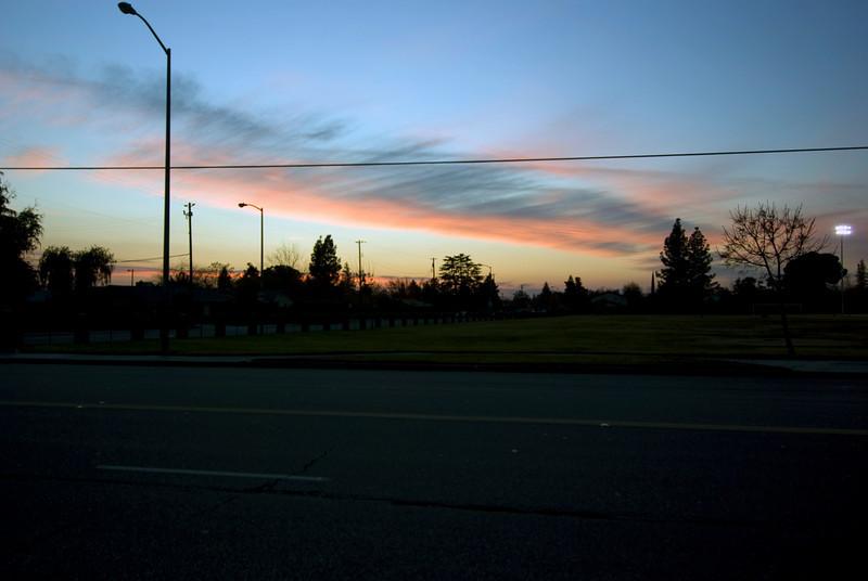 Sunset near U-Haul near Sunnyside Ave & Sierra Ave