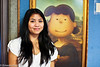 """Lucy Mona Lisa"" at the Peanuts store in Santa Rosa, California."
