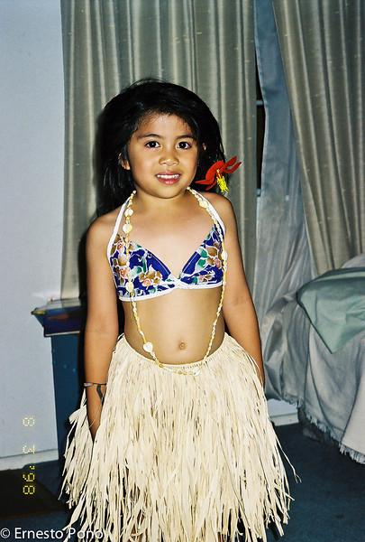 "Her ""Hawaiian"" dress when she was 4.<br /> <br /> She loved the movie ""South Pacific"" especially the song ""Happy Talk"".  She would move her fingers in the same way the actress did in the movie."